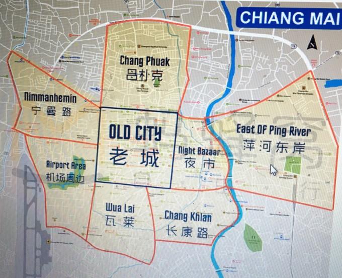 清迈 旅游 手绘地图