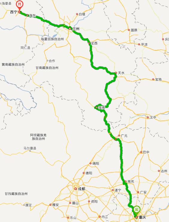 7月重庆到敦煌,求一条自驾游路线
