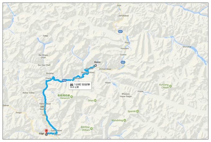 这次到罕萨,我没有选陆路——从新疆的喀什,过红其拉甫中国关口图片