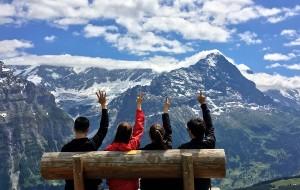 【蒙特勒图片】两个人太少,四个人刚刚好,致我们的瑞士、法国蜜月旅行~