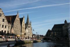 比利时宁静的城市根特