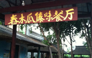 西双版纳美食-舂木瓜傣味餐厅