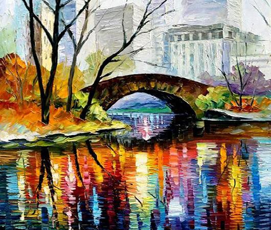 反馈三:手绘《旅途印象》色彩装饰画一组