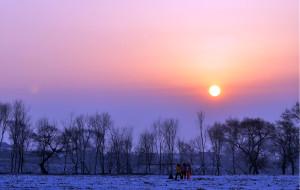 【吉林市图片】飞雪中的哈尔滨,没有雾凇的雾凇岛