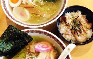 函馆美食-しなの盐味拉面