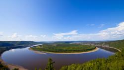 漠河景点-黑龙江第一湾