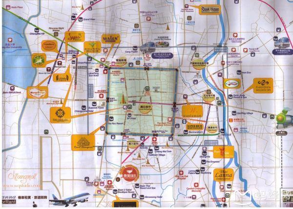 清迈地图,拜县地图,普吉岛地图