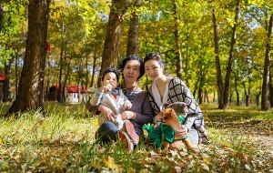 【丰宁图片】#逸の深秋草原#-一猫一狗一娃一家人,15个月baby丰宁坝上自驾