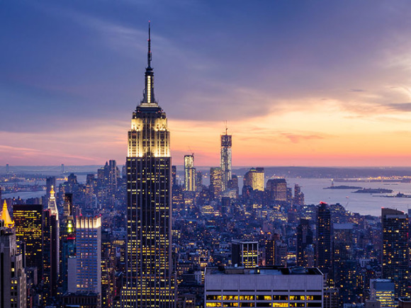 【2大地标套票】纽约 帝国大厦86层观景台 1小时自由女神巡游,免费
