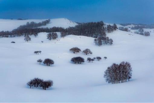 塞北冬天风景图片