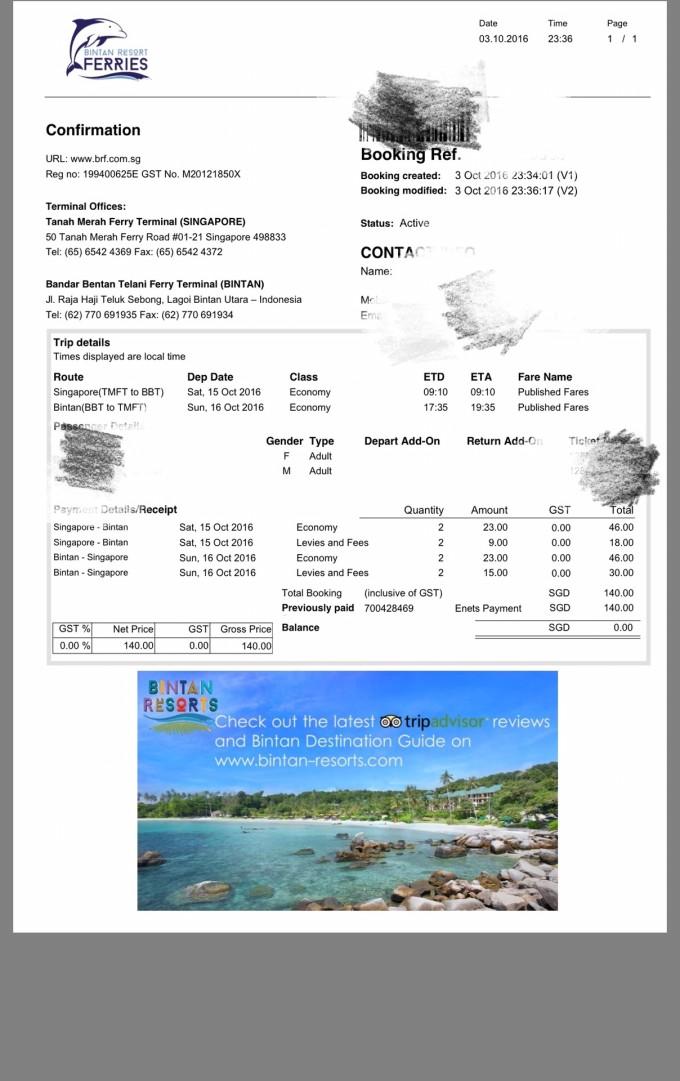 周六9:10新加坡出发---9:10到民丹岛