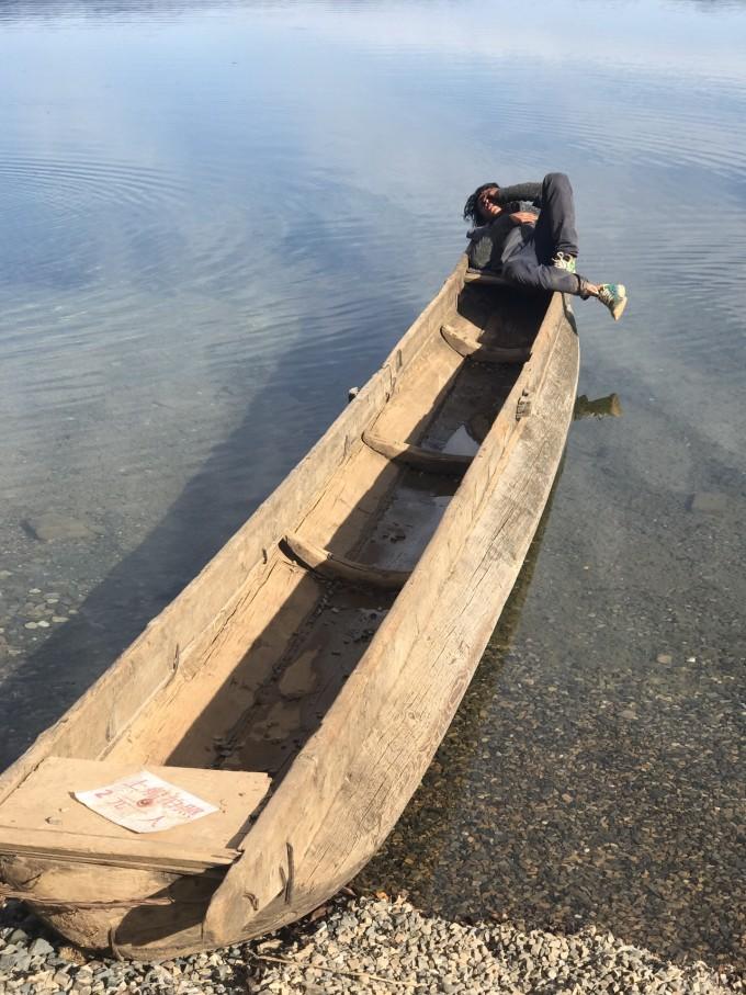 从好高的观景台看里格半岛的湖心酒店  想住,没时间