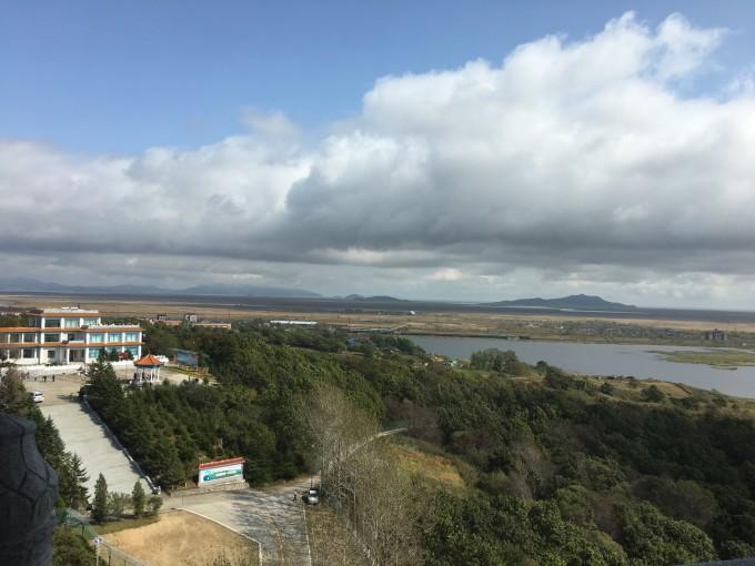 早晨7点从图们出发,去珲春防川风景区,参观著名的一眼望三国景点.