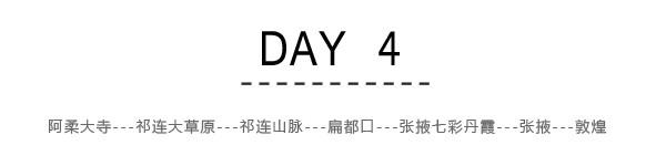 Day4:阿柔大寺---祁连大草原---祁连山脉---扁都口---张掖七彩丹霞---张掖---敦煌